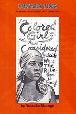 """Ntozake Shange """"FOR COLORED GIRLS WHO ... SUICIDE"""" 1977 Theatre Book Club Flyer"""