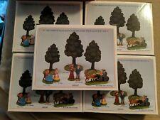 "Liberty Falls ""8 Piece Tree & Figure Set""~Ah247 Christmas Snow Western Village"