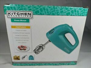 Kitchen Selectives 5-Speed Hand Mixer ☆ Green Model HM-2007TQ ☆ Rare Color