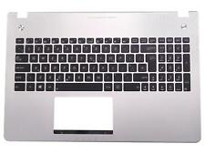 ASUS N56VB N56VM Silver Palmrest Cover UK Backlit Keyboard 90R-N9J1K1080U