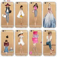 Custodia Cover Design Donna Vestito Per Apple iPhone 4 4s 5 5s 5c 6 6s 7 Plus SE