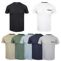 Mens Brave Soul 'Faustian' Designer Crew Neck Cotton T-Shirt New S-XL