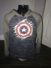 Marvel Comics Captain America Hoodie Sweater Size L Excellent Condition