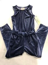NWT Genuine Kids OshKosh Girls Blue Velvet One Piece...