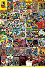 MARVEL 70 YEARS OF COMIC COVERS POSTER (61x91cm)  PICTURE PRINT NEW ART