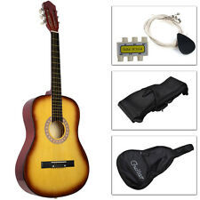 Acoustic Guitar W/Guitar Case, Strap, Tuner and Pick For New Beginners Yellow