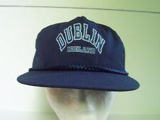 Dublin Ireland Blue Cap Hat Adjustable Strapback One Size