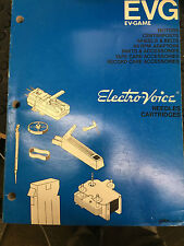 Electro-Voice Needles And Cartridges Product Book Manual