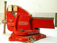 "PD5 Vintage Classic Paramo Huge Bench Vise. 4"" Jaws, HEAVY DUTY, Machinist tool,"