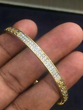Solid 750 Stamped 18K Gold 1.45 Cts Round Brilliant Cut Diamonds Bangle Bracelet