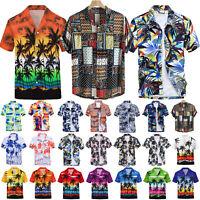 Herren Hawaii Hemden Kurzarm Bluse Strand Freizeithemd Sommer Freizeit Shirts