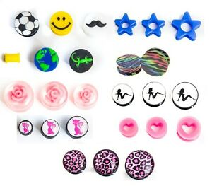 100 mixed ear plugs tunnels tapers bargain body jewellery huge profit potential