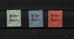Morocco Agencies, Gibraltar optd KEVII 1903 selection LMM wmk Crown CA (M804)