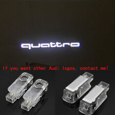 2X Laser LED Quattro Logo Door Puddle Courtesy Projector Shadow Lights For AUDI