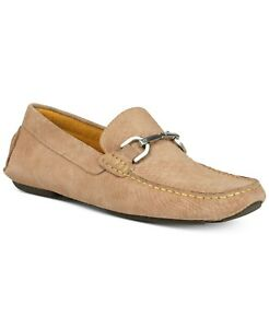 Donald Pliner Men Casual Loafers Victor Taupe Embossed Suede Size 9.5M