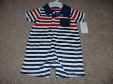 OshKosh BGosh Baby Boys Navy Striped Shorts Romper Outfit...