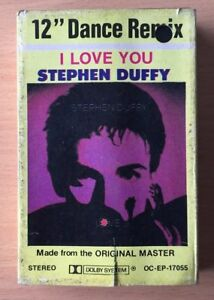 STEPHEN DUFFY DURAN DURAN I Love You VERY RARE PHILIPPINES PAPER LABEL CASSETTE
