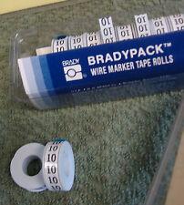 Bradypack 10 Rollen für Kabelmarkierer Nr. 10 Markierungsstreifen Brady 2468