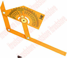 PRECISION GAUGE TWO ARM INSIDE OUTSIDE ANGLE PROTRACTOR FINDER TOOL