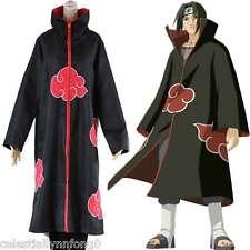 Anime Naruto CLOAK Cosplay Costume Akatsuki Uniform Uchiha Itachi Halloween Gift