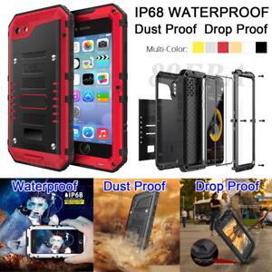 IP68 Underwater Waterproof Military Full Protector Metal Case Cover For iPhone