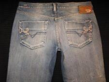 Diesel Doozy Jeans Womens Straight Leg Distressed Wash 71J Sz 30 Nice !!