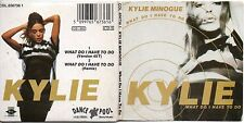 "CD SINGLE Kylie MINOGUE What Do I Have To Do 2-TRACK card sleeve cd3"" gatefold"