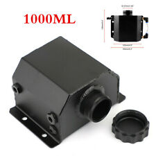 1pcs Black Universal Aluminum 1000mlRadiator Coolant Overflow Bottle With Cap