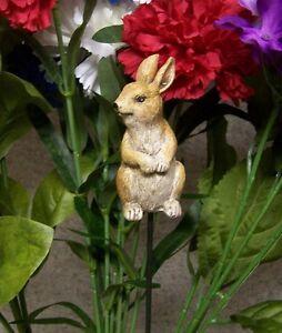 "Garden Decor Flower Pot Plant Pick Stake Rabbit NEW 15"" tall"