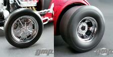 GMP 18841 Chromed Hot Rod Drag Wheel & Tire Pack 1:18 NEW!