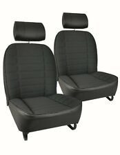 MGB & V8 STYLE SEAT COVERS  1973-76 BLACK CLOTH - PAIR  NEW
