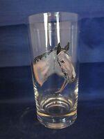 High Gun Horse Glass Tumbler Vintage 12 oz.