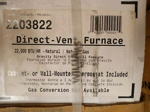 Williams 2203822 Direct Vent Wall Heater 22,000 BTUH 67% AFUE  Natural Gas