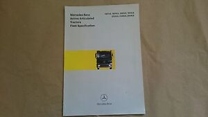 Mercedes Benz Actros Sales brochure 1999 SUPERB CONDITION