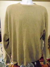 Daniel Bishop Men's 2-Ply Cashmere Crew Neck Beige sweater X-Large