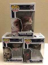 Funko Pop Movies The Predator ASSASSIN,PREDATOR,PREDATOR HOUND Set of 3 In Hand!