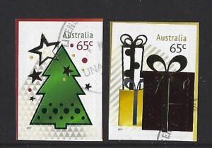 AUSTRALIA 2017 EMBELLISHED CHRISTMAS STAMPS FINE USED