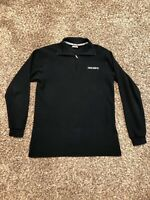 Descente Black Spell Out Logo Pull Over Size Medium Rare