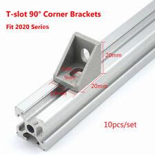 10pcs 2020 T-slot L Shape Aluminum Brace Corner Joint Right Angle Shelf Bracket