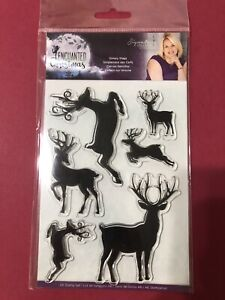 Crafters Companion SIMPLY STAGS Clear Stamp Set Enchanted Christmas Reindeer