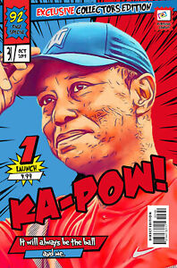 Tiger Woods Comic Book Covers Art Print (Available In 4 Formats)
