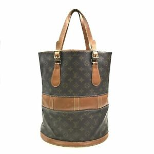 100% Authentic Louis Vuitton Bucket GM USA Tote Bag M42236 [Used] {09-0400}