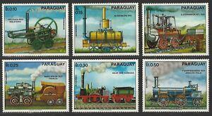 Paraguay, Alte Lokomotiven,1972, MiNr. 2254-2259, postfr.