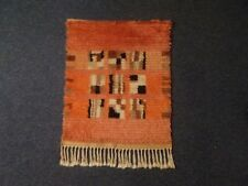 Vintage Scandinavian hanging wall rug, chair cover, table cloth, hand woven