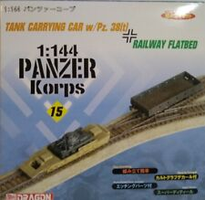 Dragon Models 1/144 scale kit 14021, Tank  carrying car and Railway flatbed.