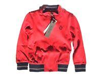 Felpa junior di Cavalleria Toscana, colore Rosso, da equitazione
