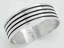 Vintage 50's Hopi Sterling Silver Overlay Bangle Bracelet Wallie Sekayumptewa