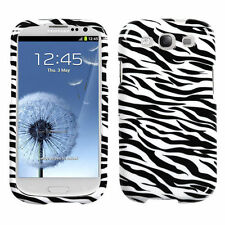 For Samsung Galaxy S III 3 HARD Protector Case Snap On Phone Cover Zebra