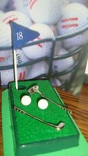 Putting Green 18th Hole Travel Desk Toy Mini Golf Clubs,Golf Balls-Putting Green