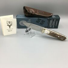 Muela Kodiak Stag Fixed Blade Knife With Leather Sheath Mint In Box 10A